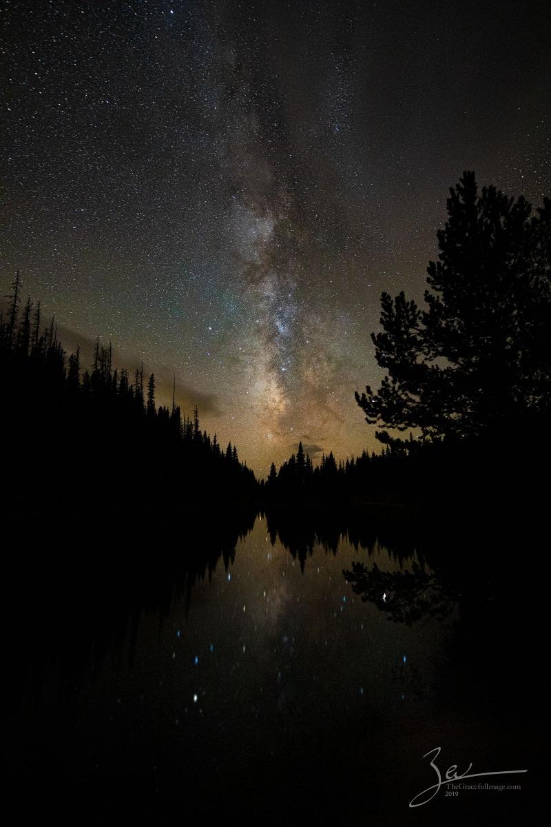 Milky Way over Lake Irene